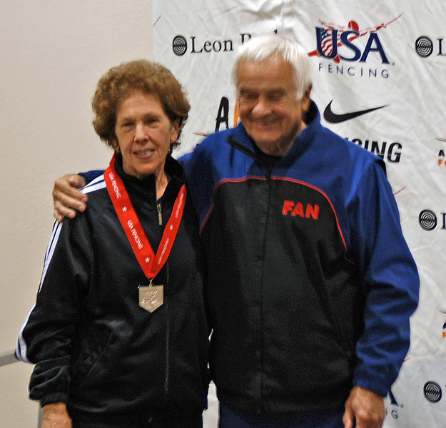 Catherine Radle, 2nd Place, Veteran-70+ Women's Epee.