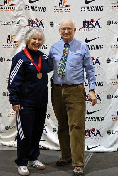 Ellen O'Leary, 3rd Place, Veteran-70+ Women's Foil.