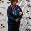 Diane Reckling, 3rd Place, Veteran-70+ Women's Foil.