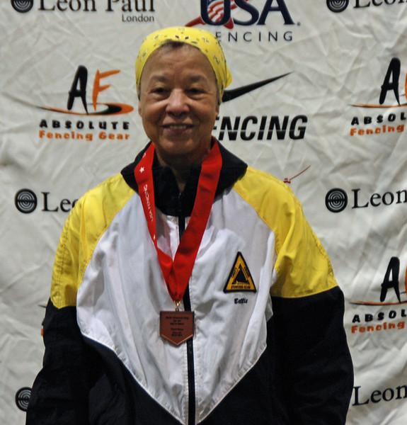 Bettie Graham, 3rd Place, Veteran-70+ Women's Epee.