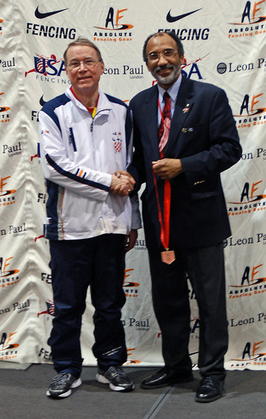 James Adams, 3rd Place, Veteran-70+ Men's Epee.