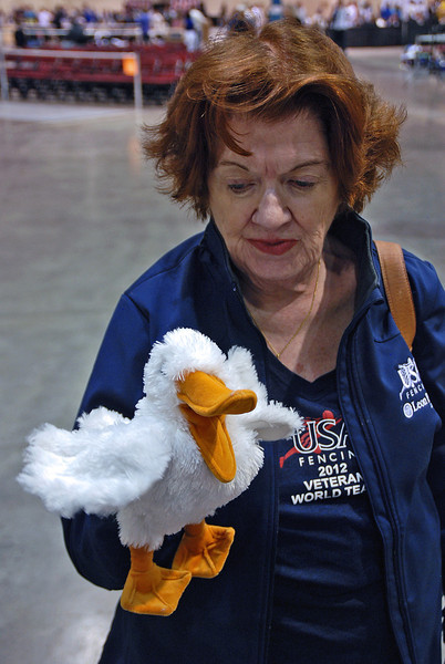 Diane Reckling and Francis the Duck.