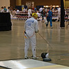 Bettie Graham prepares to fence in the Veteran-70+ Women's Epee.