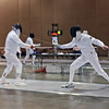 Mark Henry (right) vs. Edward Sady in the preliminary round of the Veteran-70+ Men's Epee.