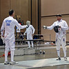 Mark Henry vs. Ray Sexton in the preliminary round of the Veteran-70+ Men's Epee.