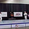 Bettie Graham (left), National Champion, in the Veteran-70+ Women's Epee.