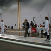 Emma Scala (right) in the Youth-12 Women's Epee.