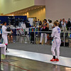 India Bhalla-Ladd (left) in the Youth-14 Women's Epee.