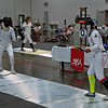 India Bhalla-Ladd (right) in the Under-16 Women's Epee.