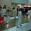 Julia Smith in the DE round of Under-16 Women's Epee.