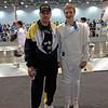 Fencing Master Raymond Finkleman and former CCFC fencer Cameron Sullivan.