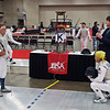 Bettie Graham, right, in the Veteran-70+ Women's Foil.