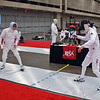 Mark Henry, right, in the Veteran-70+ Men's Epee.