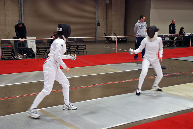 Julia Smith (left) in the Cadet Women's Epee.