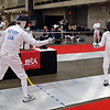 Mark Henry vs Barry Leonardini in the DE of Veteran-70+ Men's Epee.