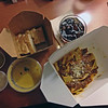 Takeout from Nel Centro: butternut squash soup, and papardelle with wild boar ragu.