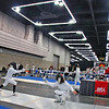 Emma Scala in the direct elimination round of the Cadet Women's Epee.