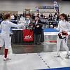 Emma Scala in the Junior Women's Epee drew Dariya Yefremenko as her first direct elimination bout.  Yefremenko later won gold.