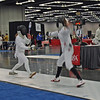Emma Scala (right) in the Cadet Women's Epee.