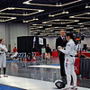 Emma Scala competed in the pool against the first seed in the Cadet Women's Epee, Charlene Liu.