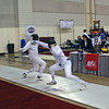 Jake Mezey  (right) in the Division III Men's Epee.
