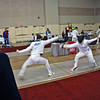 Jake Mezey  (left) in the Division III Men's Epee.