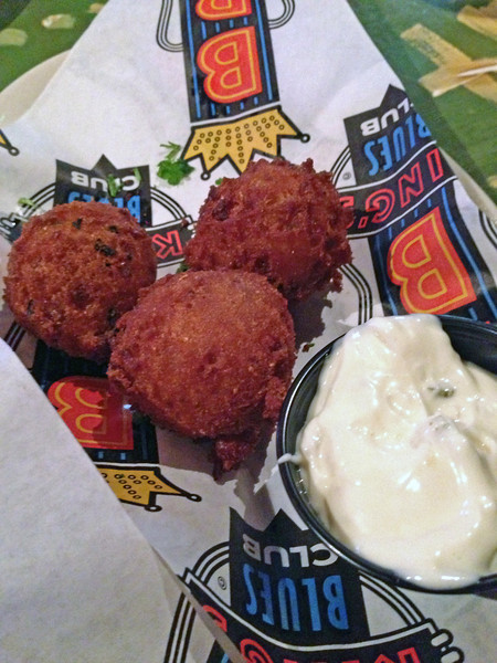 Hush puppies at BB King's House of Blues on Beale Street.