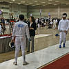 Jake Mezey  in the Division III Men's Epee direct elimination round.