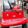 The emergency pizza delivery vehicle of Aldo's Pizza in Memphis, Tennessee.