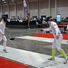 Raphael Hviding (right) in Division I Men's Epee.