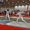 Julia Smith (left) in Junior Women's Epee.