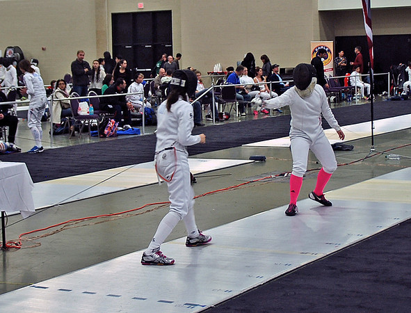 Julia Smith (left) in the Junior Women's Epee.