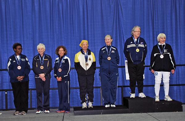 Veteran-70+ Women's Epee Finalists
