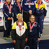 The finalists in Veteran-70+ Women's Foil.  Top row:  Gemin Channing (3rd), Diane Reckling (3rd), Patricia Bedrosian (1st), Ruth Dodge (2nd).  Bottom row:  Bettie Graham (5th), Mary Turzillo (6th).