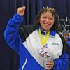 Anna Estrada, 5th in Veteran-60 Women's Epee.