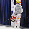 Bettie Graham before the start of the semi-final bout of Veteran-60 Women's Foil.