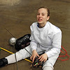 Olivia Morreale checks her epees before the Division II Women's Epee.
