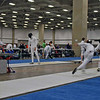 Danny Wiggins (left) in the DE of Division III Men's Epee.