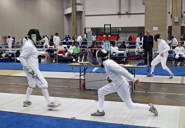 Danny Wiggins (right) in the Division II Men's Epee.