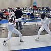 Olivia Morreale (left) in the Division II Women's Epee.