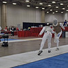 Julian Moiseiwitsch scores in the Veteran Men's Foil.