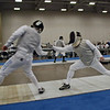 Julian Moiseiwitsch (right) in the Veteran Men's Foil.