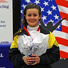 Nina Moiseiwitsch forces a smile after winning silver in the Division II Women's Epee.
