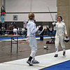 Olivia Morreale (left) salutes in the DE of Division II Women's Epee.