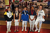 The medalists in the Y10 Mixed Epee.  From left, Elizabeth Wiggins - 5th, Jasmine Bowden - 3rd, Victor Teelucksingh - 3rd, Max Robinson - 2nd, and Alexander Duncan - 1st.