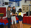 Nina Moiseiwitsch receiving her 7th place medal in the Y14 Mixed Epee.