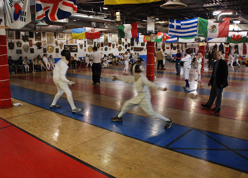 Jared Heath (right) in Y14 Mixed Epee.