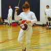 Sam Hayden in the Y12 Mixed Epee. (Photo by Jeff Hayden.)