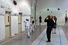 Daniel Wiggins (right) scores in the Y14 Men's Epee.