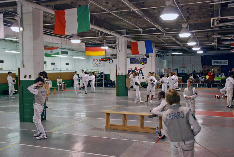 The venue at New Jersey Fencing Alliance, Maplewood, New Jersey.